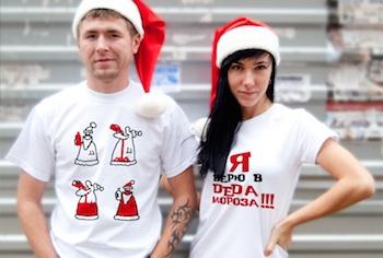 Новогодние футболки - стильный аксессуар наступающего 2015 года