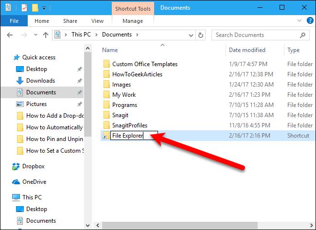 Как быстро переименовать файл