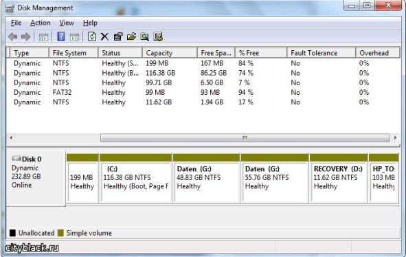 Как разбить жесткий диск на два? Windows 7