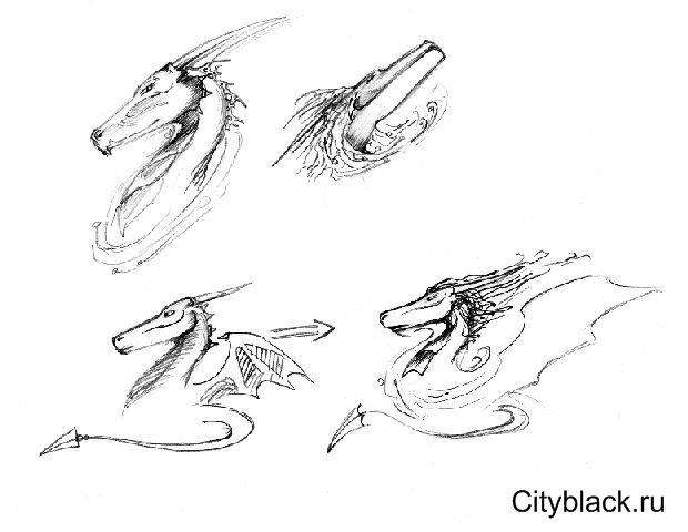 Уроки по рисованию аниме (дракон)