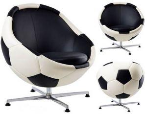 Кожаное кресло для заядлых болельщиков
