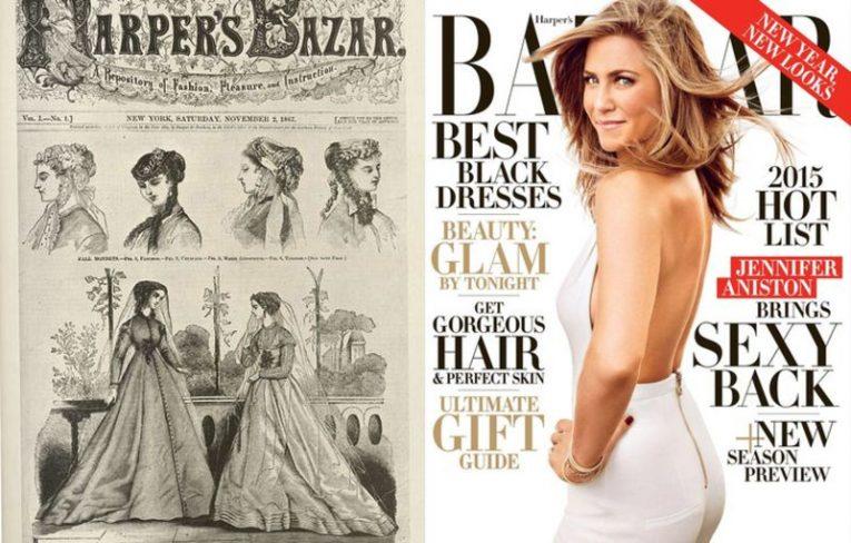 Как изменились обложки известных журналов спустя время