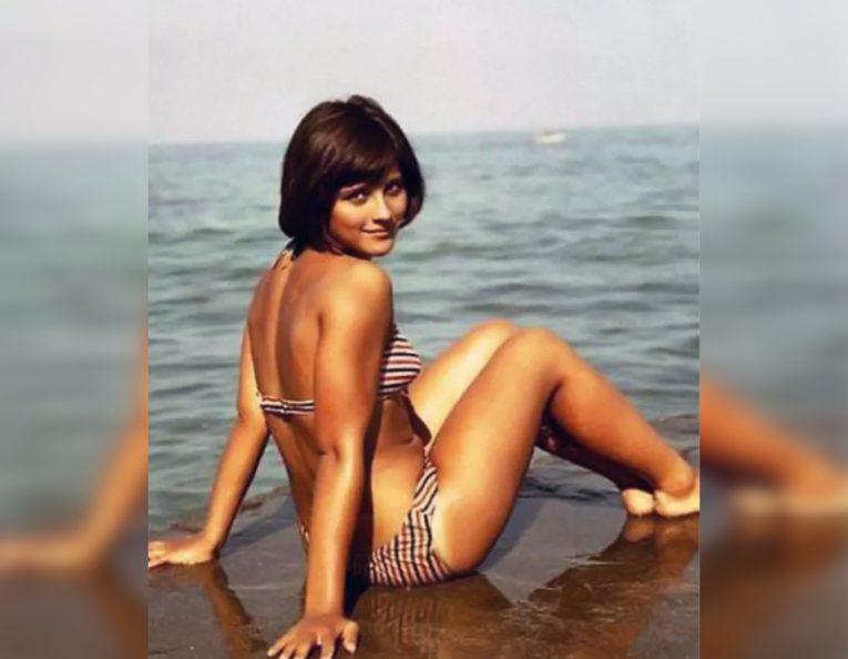 Советские и голливудские красавицы на пляже в купальниках